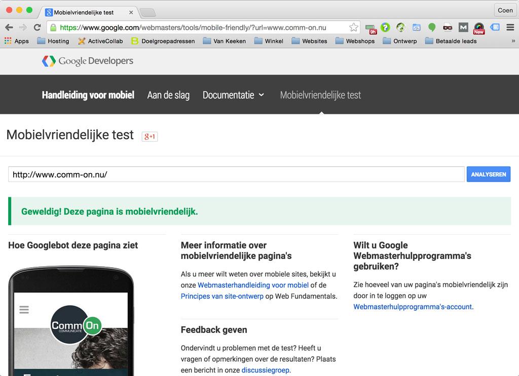 website-mobiel